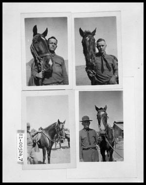 Primary view of object titled 'Closeup of Man and Horse; Man Standing with Horse'.