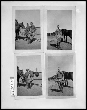 Primary view of object titled 'Two Men with Horses; Man with Horse; Man with Horse with Riding Crop'.