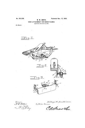 Primary view of object titled 'Gage Attachment for Bench-Planes.'.