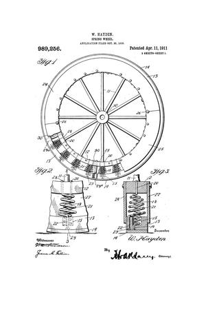 Primary view of object titled 'Spring-Wheel'.