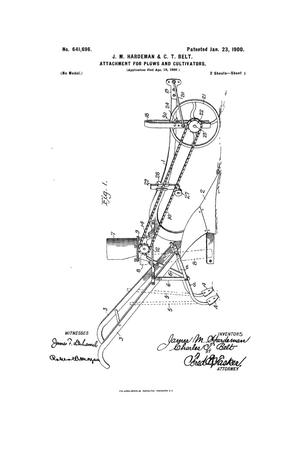 Primary view of object titled 'Attachment For Plows And Cultivators.'.