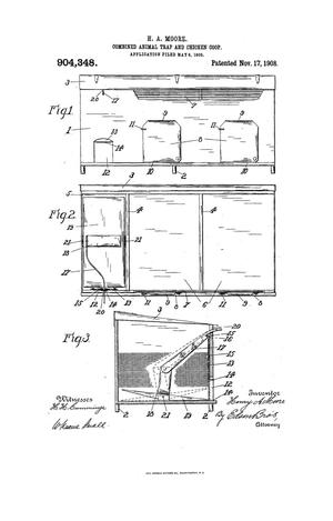 Primary view of object titled 'Combined Animal-Trap and Chicken-Coop.'.