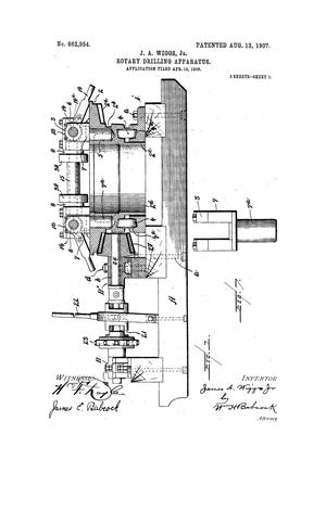 Primary view of object titled 'Rotary Drilling Apparatus.'.