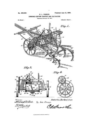 Primary view of object titled 'Combined Cotton-Chopper And Cultivator.'.