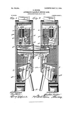 Primary view of object titled 'Automatic Railway Switch Lock'.