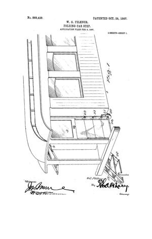 Primary view of object titled 'Folding Car-Step.'.