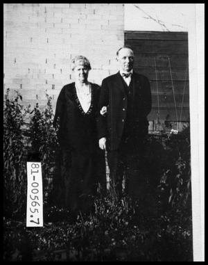 Primary view of object titled 'Emma Burkey Perini and Charles Perini in Garden'.