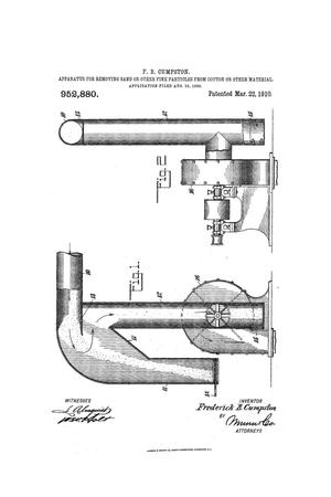 Primary view of object titled 'Apparatus for Removing Sand or Other Fine Particles From Cotton or Other Material'.