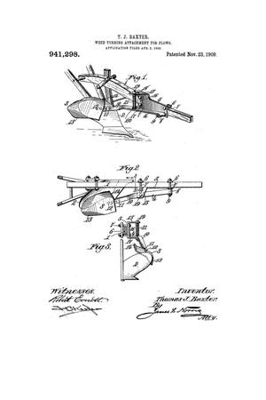 Primary view of object titled 'Weed-Turning Attachment for Plows.'.