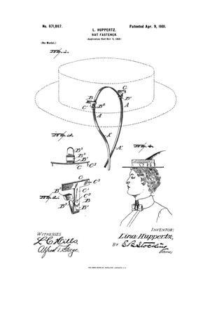 Hat-Fastener., Hat Fastener.