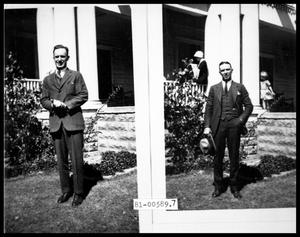 Primary view of object titled 'Man in front of House'.