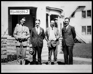 Primary view of object titled 'Four Men in front of House'.