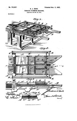 Primary view of object titled 'Tobacco Stemming Machine'.