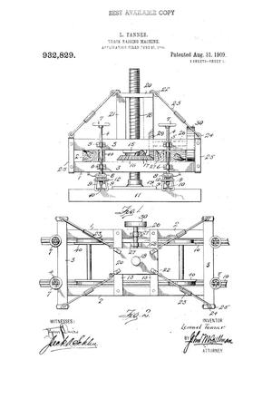 Primary view of object titled 'Track-Raising Machine'.