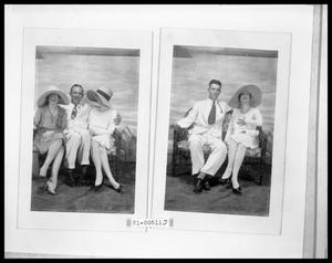 Primary view of object titled 'Picture of Man and Two Women on Couch; Man and Woman on Couch'.