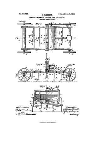 Primary view of object titled 'Combined Planter, Chopper, And Cultivator.'.
