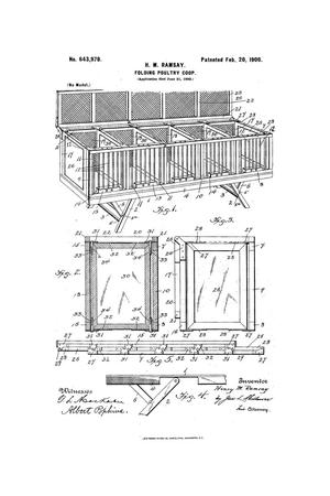 Primary view of object titled 'Folding Poultry-Coop.'.