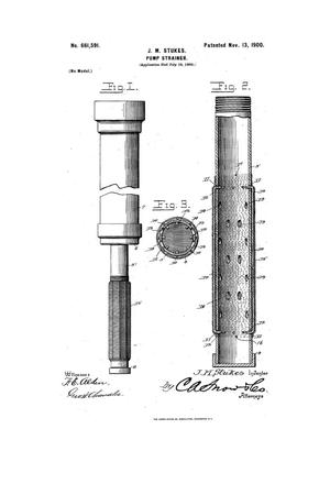 Primary view of object titled 'Pump-Strainer.'.