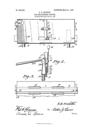 Primary view of object titled 'Hoe-Sharpening Device.'.