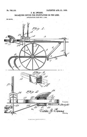 Primary view of object titled 'Balancing Device for Cultivators or the Like'.