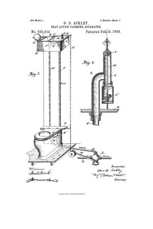 Primary view of object titled 'Seat - Action Flushing Apparatus.'.