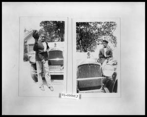 Primary view of object titled 'Picture of African American Man with Car'.