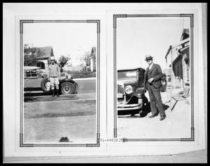 Primary view of object titled 'Picture of Man with Car'.