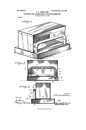 Primary view of object titled 'Apparatus for Automatically Applying Germicides'.