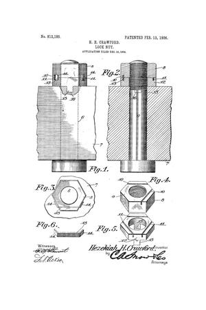 Primary view of object titled 'Lock-Nut.'.