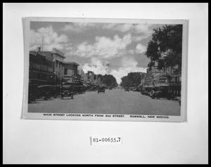 Primary view of object titled 'Main Street Looking North from 2nd St.'.