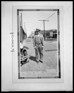 Primary view of object titled 'Picture of Man at Street Corner'.