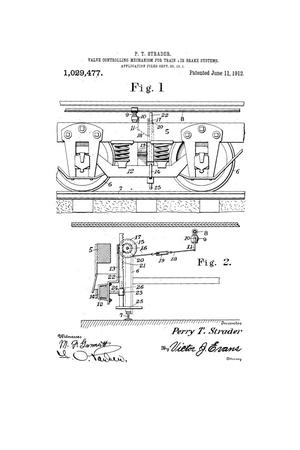 Primary view of object titled 'Valve-Controlling Mechanism for Train-Air-Brake Systems'.