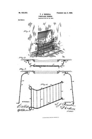 Primary view of object titled 'Fireplace-Fender.'.