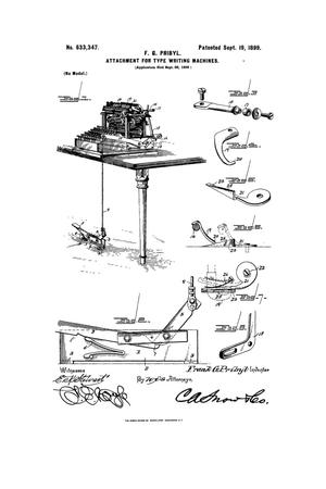 Primary view of object titled 'Attachment for Type-Writing Machines.'.