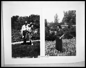 Primary view of object titled 'Picture of Man and Woman in Garden; Picture of Woman in Garden'.