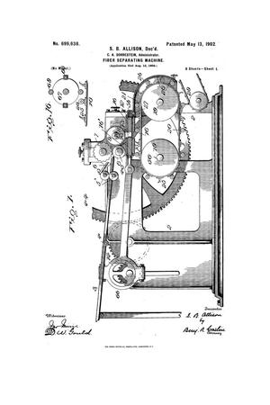 Primary view of object titled 'Fiber Separating Machine'.