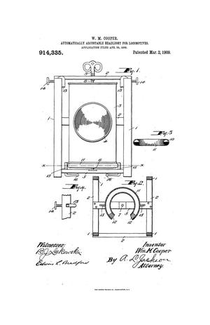 Primary view of object titled 'Automatically-Adjustable Headlight for Locomotives'.