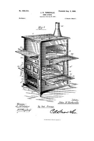 Primary view of object titled 'Cook-Stove.'.
