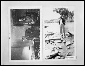 Primary view of object titled 'Men in Office; Man Standing in Creek'.