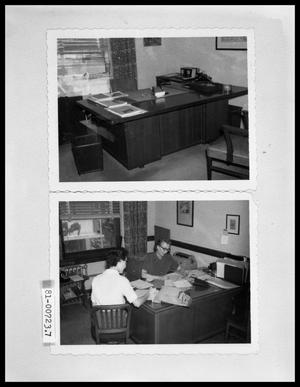 Primary view of object titled 'Office Desk; Women at Office Desk'.
