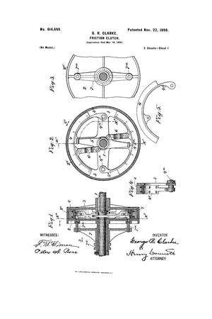 Primary view of object titled 'Friction-Clutch.'.