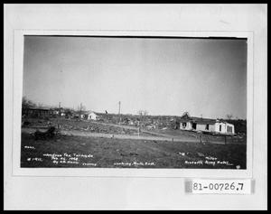 Primary view of object titled 'Woodson, Texas after 1948 Tornado'.