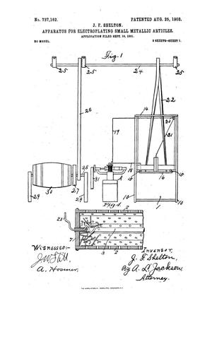 Apparatus for Electroplating Small Metallic Articles  - The Portal