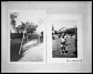 Primary view of object titled 'Child at Play in Backyard; Child at Play in Backyard'.
