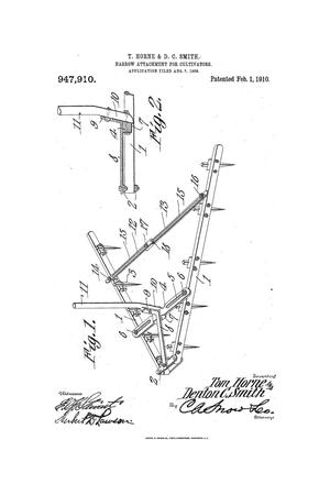 Primary view of object titled 'Harrow Attachment For Cultivators'.