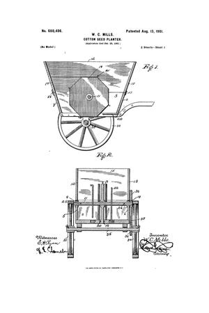 Primary view of object titled 'Cotton-seed Planter'.