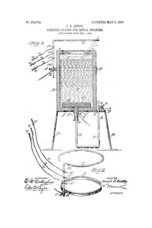 Primary view of object titled 'Electric Heater for Metal Workers.'.