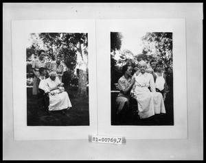 Primary view of object titled 'Woman With Baby and Child in Garden'.
