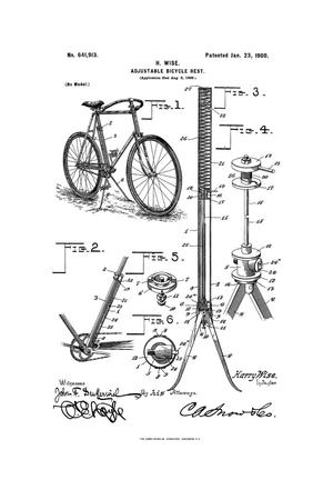 Primary view of object titled 'Adjustable Bicycle-Rest.'.