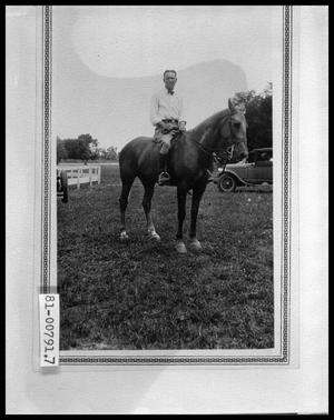 Primary view of object titled 'Bud Perini on Horseback'.